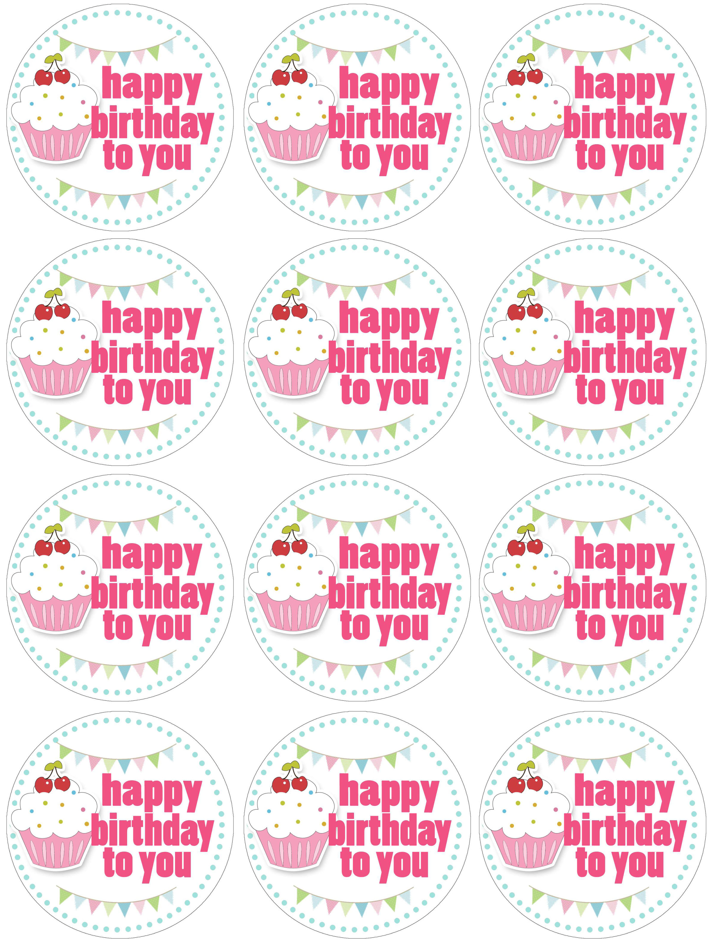 picture regarding Printable Cake Topper Templates named 10 Printable Birthday Cupcakes Photograph - Absolutely free Printable Joyful