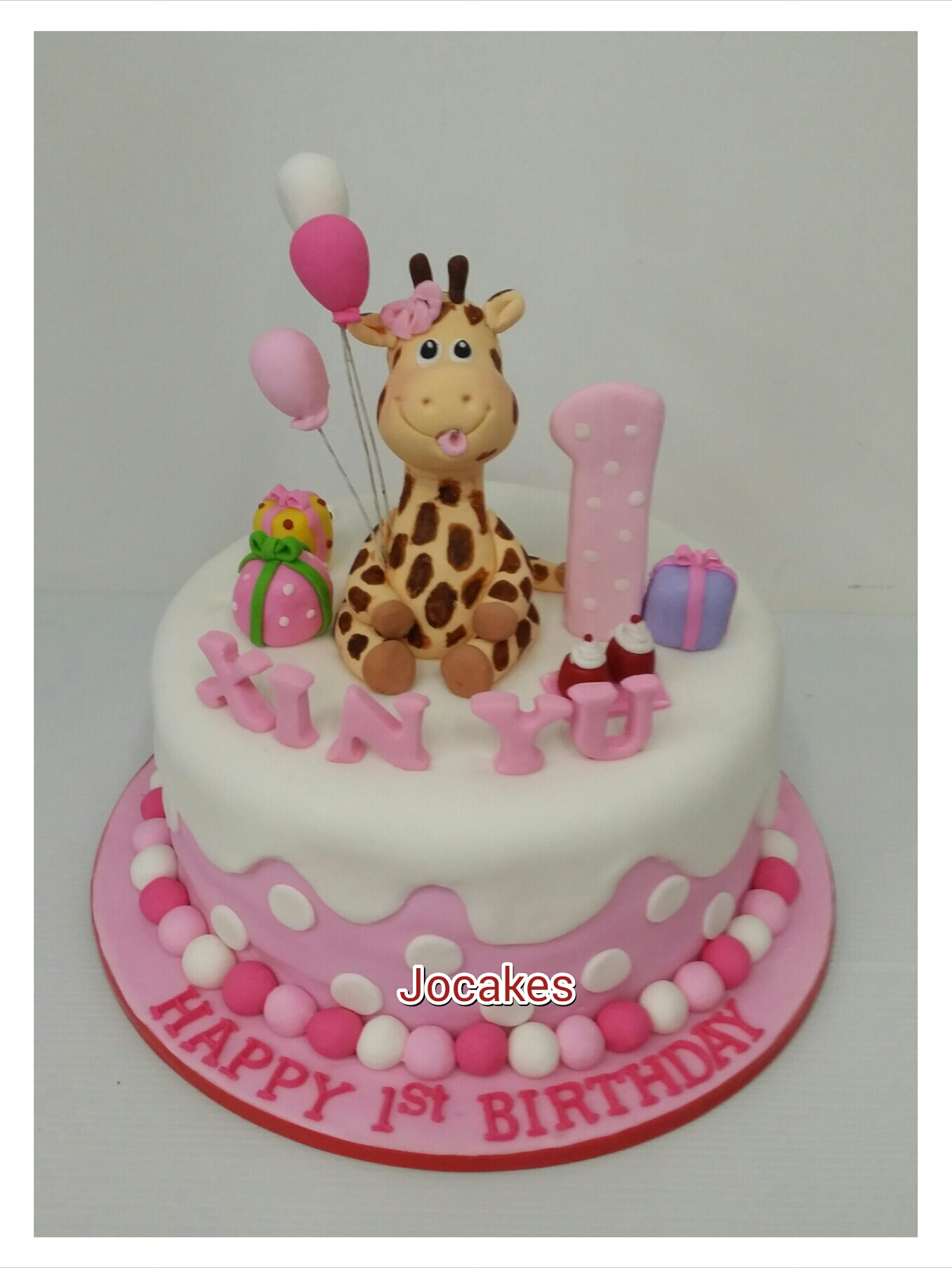 9 Giraffe Birthday Cakes For Girls Photo Pink Giraffe Birthday