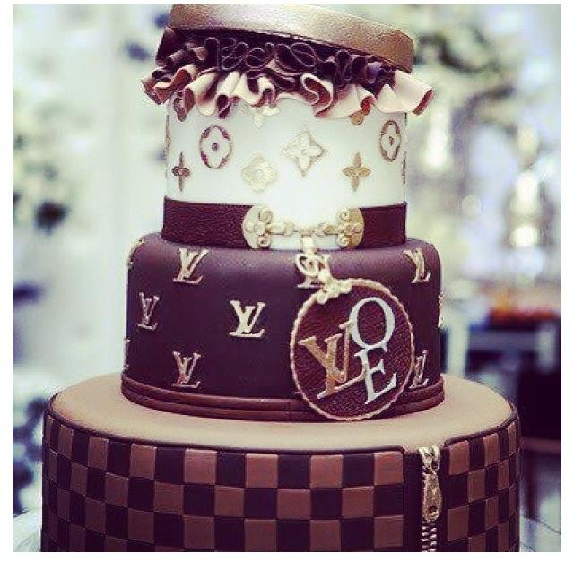 9 Purple Louis Vuitton Birthday Cakes Photo Louis Vuitton Birthday