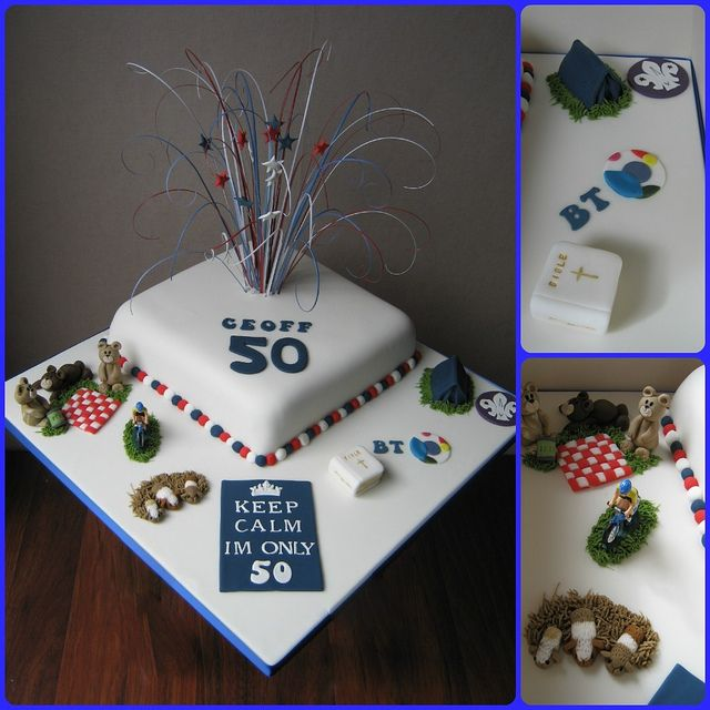 Man 50th Birthday Cake