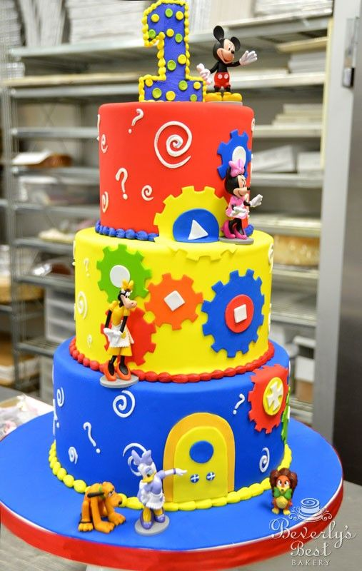 Admirable 11 Mickey Mouse Clubhouse Birthday Cakes From Bjs Photo Mickey Personalised Birthday Cards Veneteletsinfo