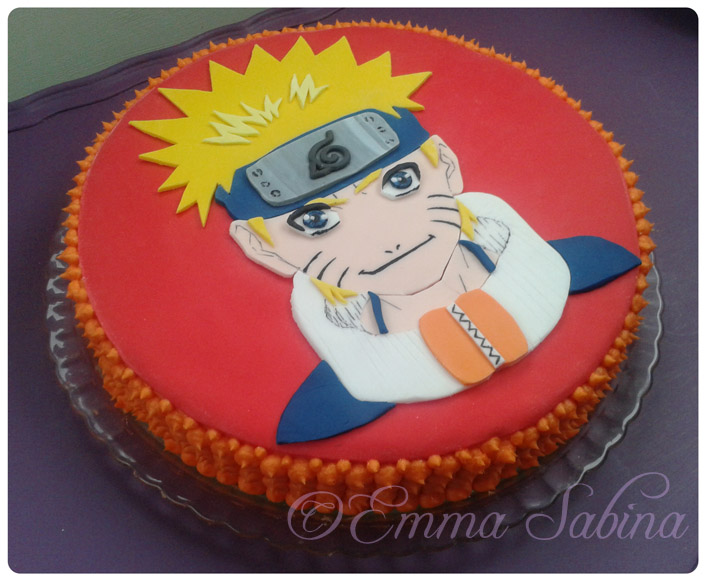 Awesome 7 Naruto 3 Layer Birthday Cakes Photo Naruto Birthday Cake Funny Birthday Cards Online Inifodamsfinfo
