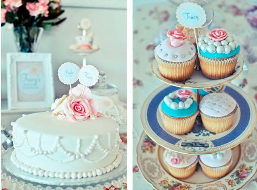 bridal shower cake via pretty little vintage melbourne