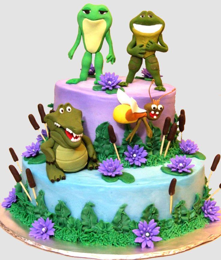 8 The Princess And Frog Birthday Cake Cupcakes Photo Princess And