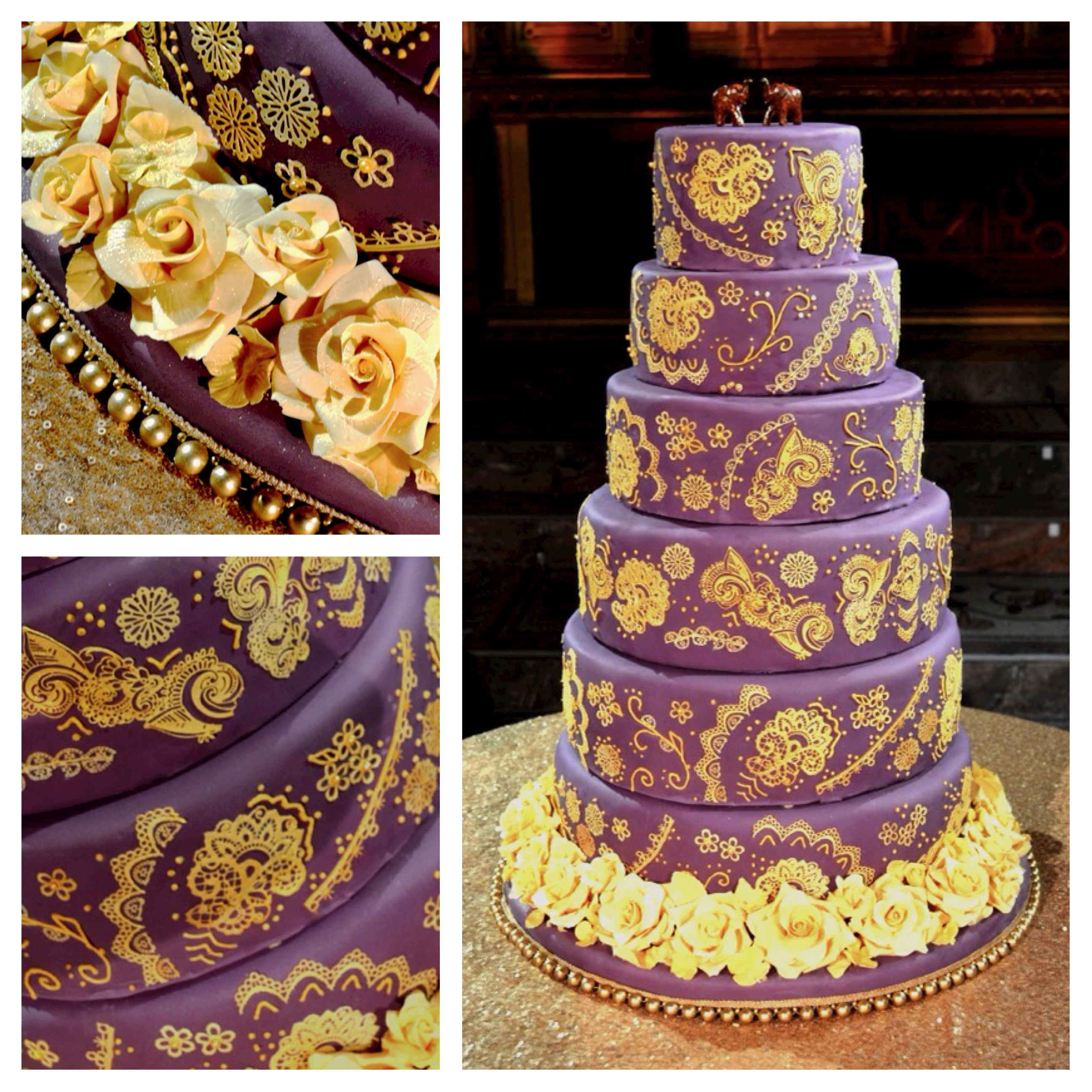 11 Gold And Purple Wedding Cupcakes Photo - Purple and Gold Wedding ...