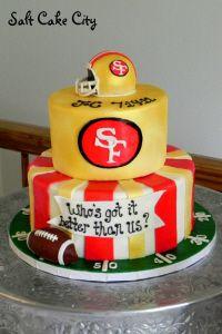 Remarkable 9 Grooms Wedding Cakes San Francisco 49 Ers Photo Saints Wedding Personalised Birthday Cards Paralily Jamesorg