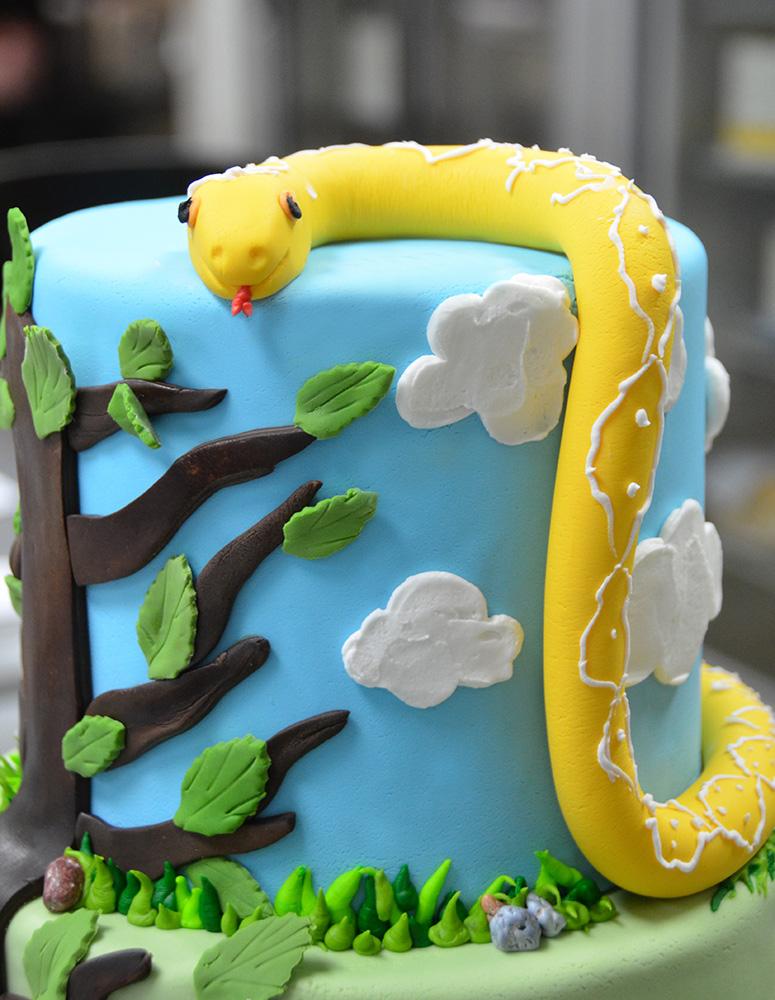 Groovy 8 Snake Cakes For Boys Photo Snake Cake Homemade Snake Birthday Funny Birthday Cards Online Overcheapnameinfo