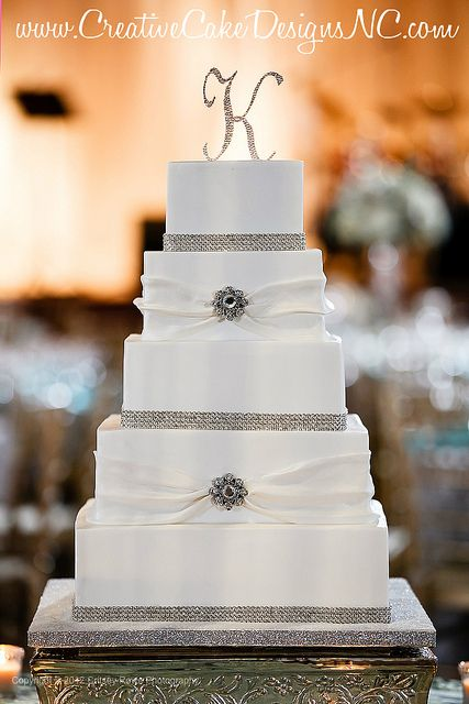11 Photos of Elegant Square Wedding Cakes Blue Father's Day