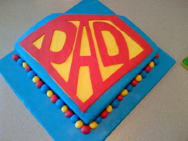 Super Dad Father's Day Cake