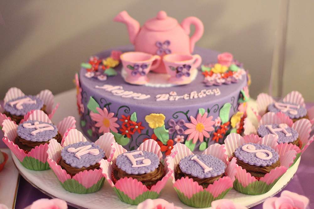 6 Tea Party Birthday Cakes For Girls Photo Vintage Tea Party