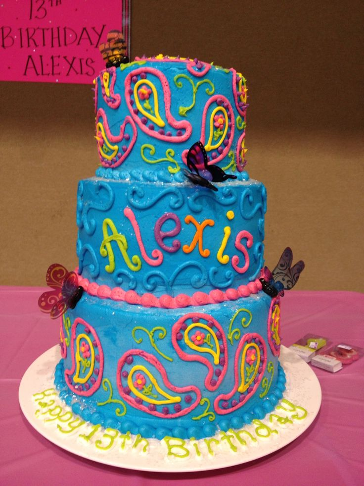 7 Cute Teenage Girls Birthday Cakes Photo Teen Birthday Cake Ideas