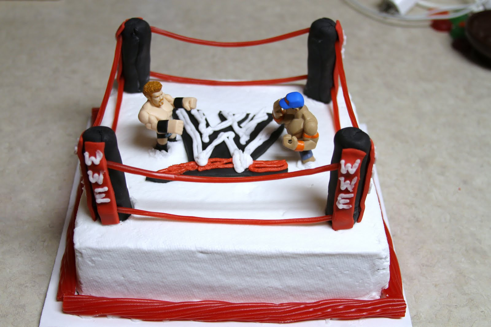 7 Wwe Bday Cakes Photo Wwe Wrestling Birthday Cake Ideas Wwe