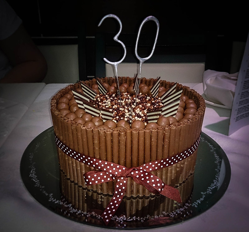30th Birthday Chocolate Cake