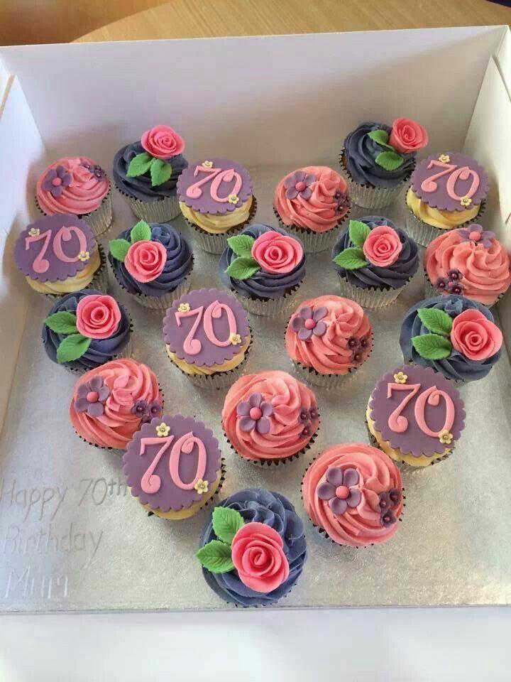 11 Elegant 70th Birthday Cupcakes Photo Elegant 70th Birthday