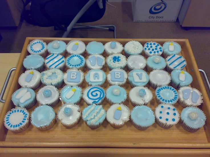 11 Easy Cupcakes For Boy Baby Shower Photo Baby Shower Cupcake
