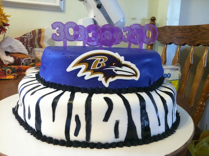 Amazing 12 Baltimore Ravens Football Happy Birthday Cakes Photo Personalised Birthday Cards Akebfashionlily Jamesorg