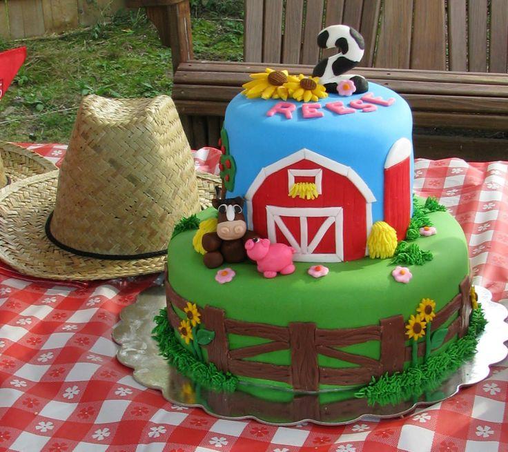 Strange 11 Barnyard Party Cakes Photo Barnyard Birthday Cake Farm Funny Birthday Cards Online Inifodamsfinfo
