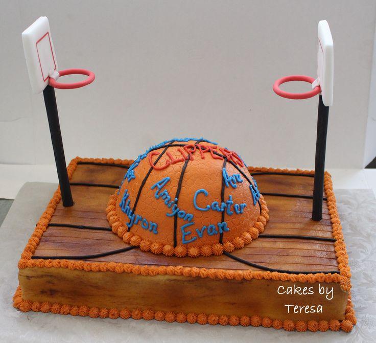 Cool 6 Basketball Court Themed Cakes Photo Basketball Birthday Cake Funny Birthday Cards Online Kookostrdamsfinfo