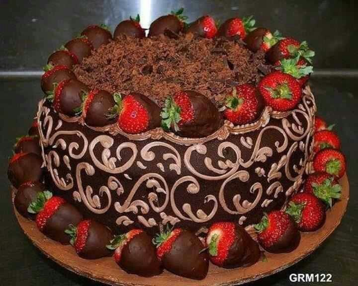 12 Beautiful Chocolate Cakes With Strawberries Photo Beautiful