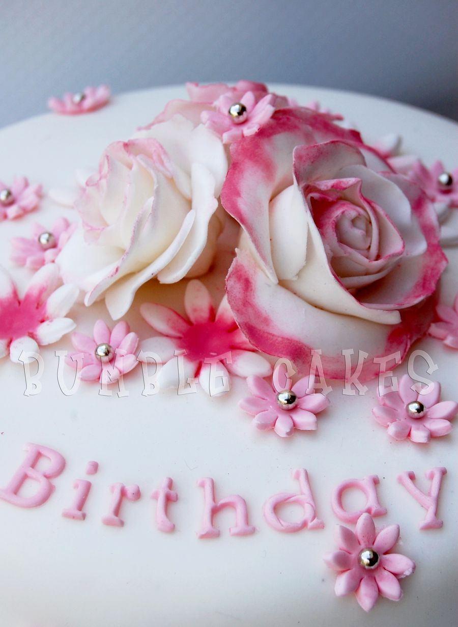 12 On Looking Birthday Cakes Rose Decoration Photo Birthday Cake
