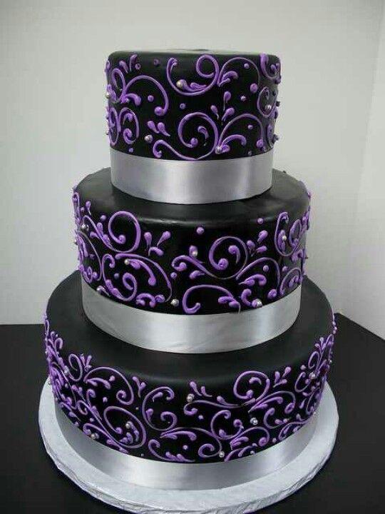 Incredible 9 Silver Cakes Purple And Black Photo Black Purple And Silver Funny Birthday Cards Online Ioscodamsfinfo