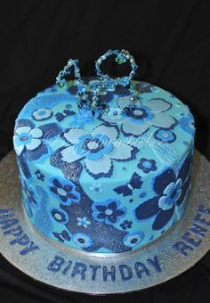 Blue Green Birthday Cakes For Girls