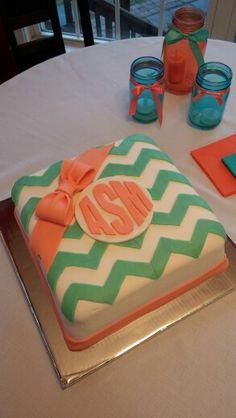 Enjoyable 13 Monogram Chevron Birthday Cakes Photo Chevron Monogram Birthday Cards Printable Opercafe Filternl