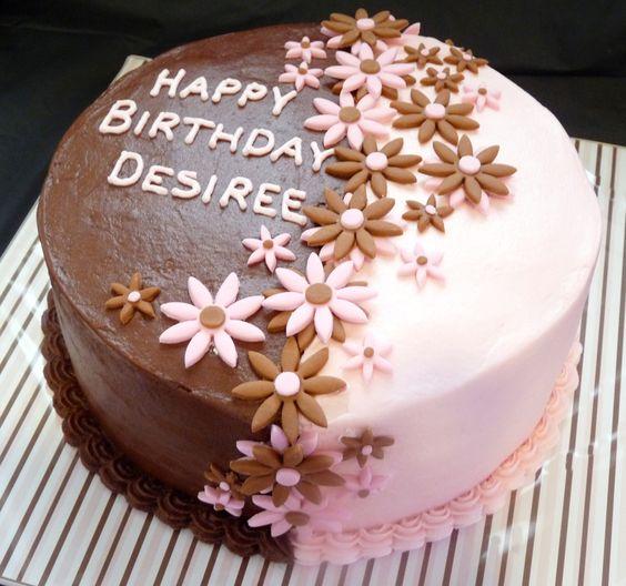 Cool 5 Simple Round Birthday Cakes Ideas Photo Chocolate Birthday Funny Birthday Cards Online Hendilapandamsfinfo
