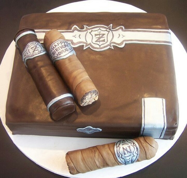 12 Cigar Themed Birthday Cakes Photo - Cigar Box Cake, Cigar ...