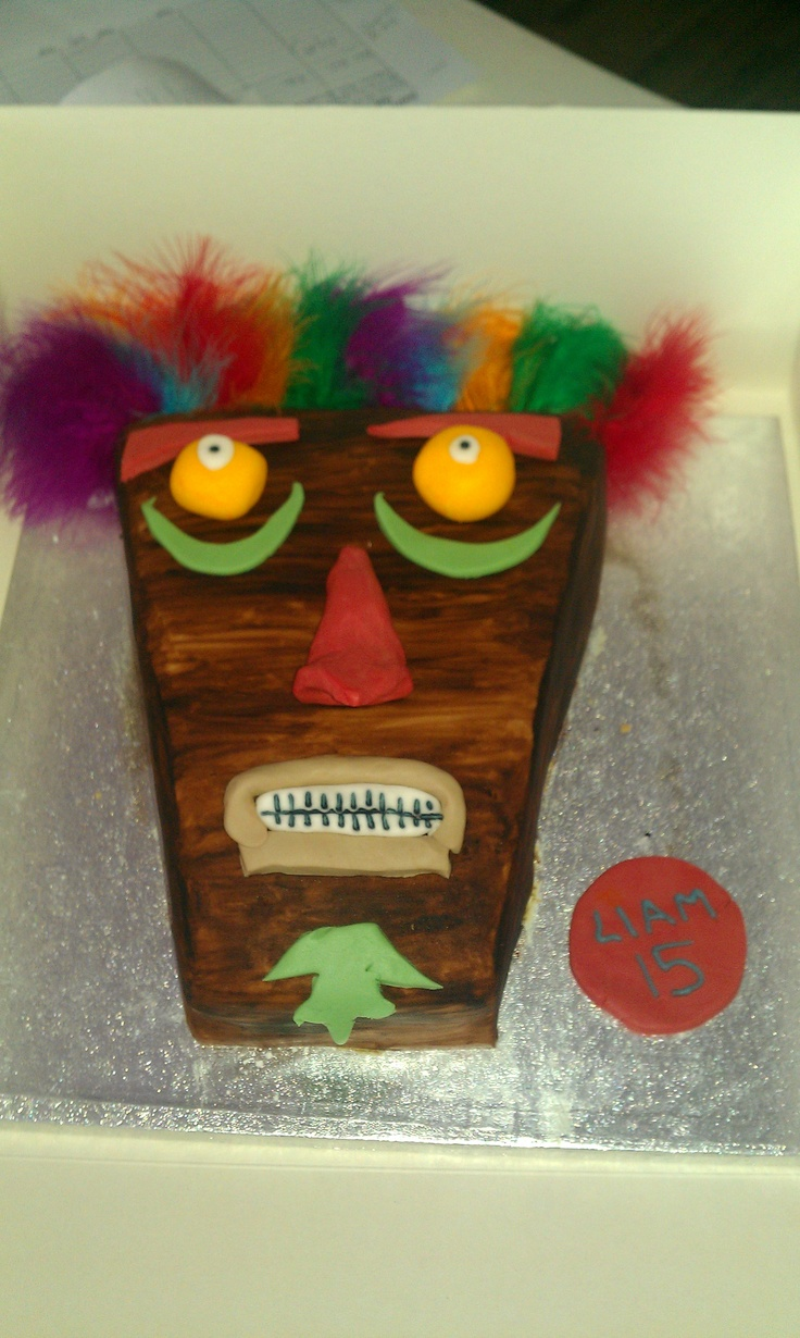 9 Tiki Mask Cakes Pinterest Photo Tiki Mask Cake Toppers Tiki