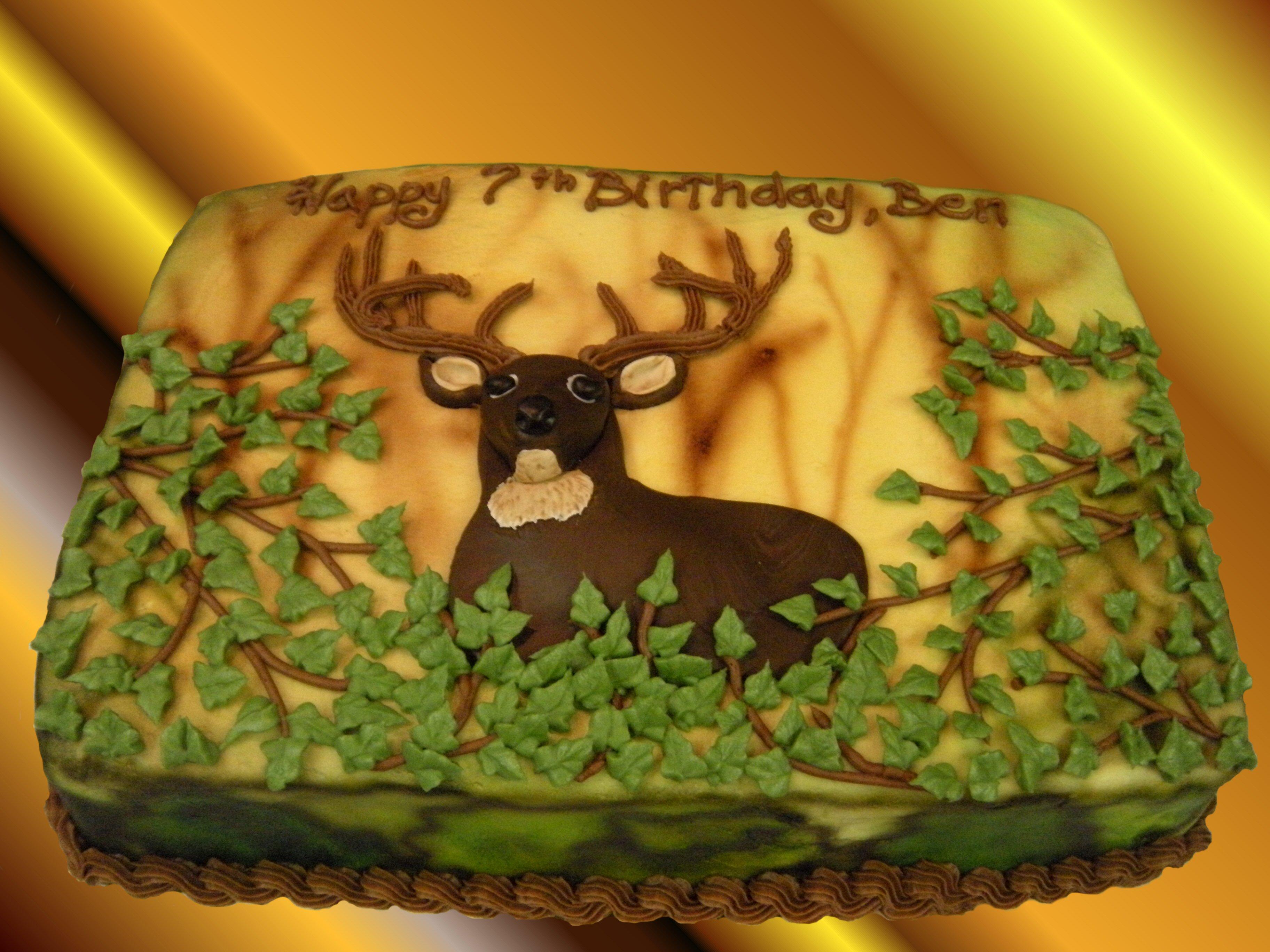 11 Deer Birthday Cakes Photo Deer Birthday Cake Ideas Deer