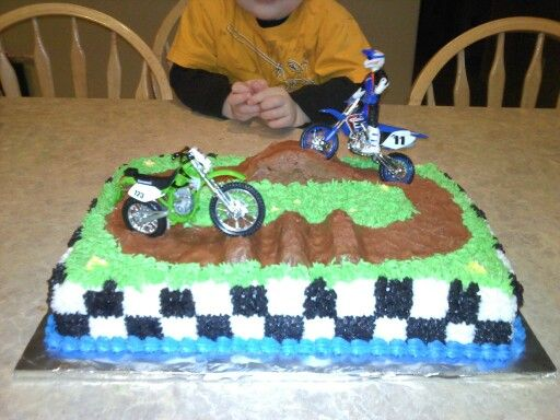 11 Dirt Bike Birthday Cakes For Boys Photo Dirt Bike Cakes for