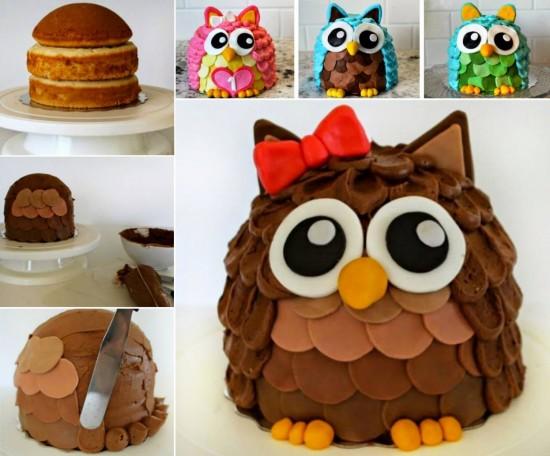 13 Creative Owl Decorated Cakes On Pinterest Photo DIY Owl Cake