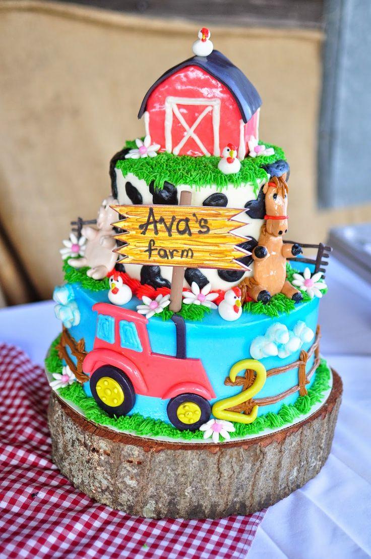 Stupendous 11 Barnyard Party Cakes Photo Barnyard Birthday Cake Farm Personalised Birthday Cards Veneteletsinfo