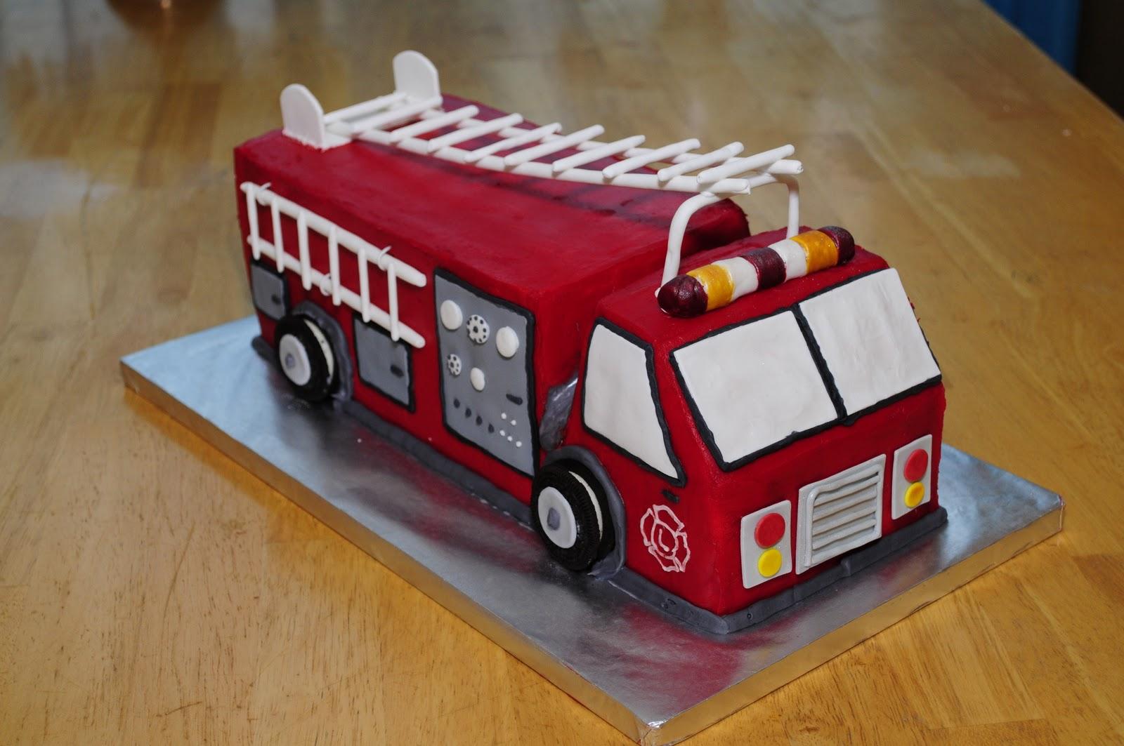 Amazing 11 Truck Cakes Fire Truck Photo Fire Truck Birthday Cake Ideas Birthday Cards Printable Benkemecafe Filternl