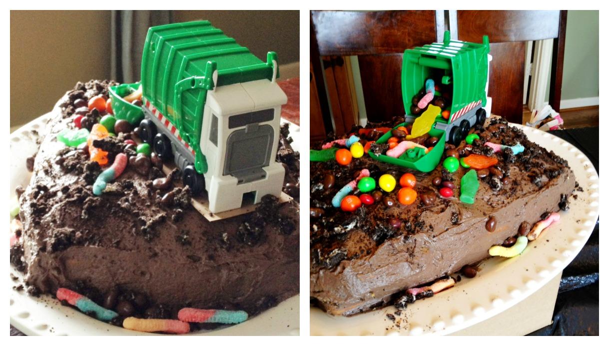 Trash Truck Birthday Cake