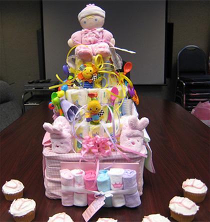 Girl Baby Shower Diaper Cake Ideas