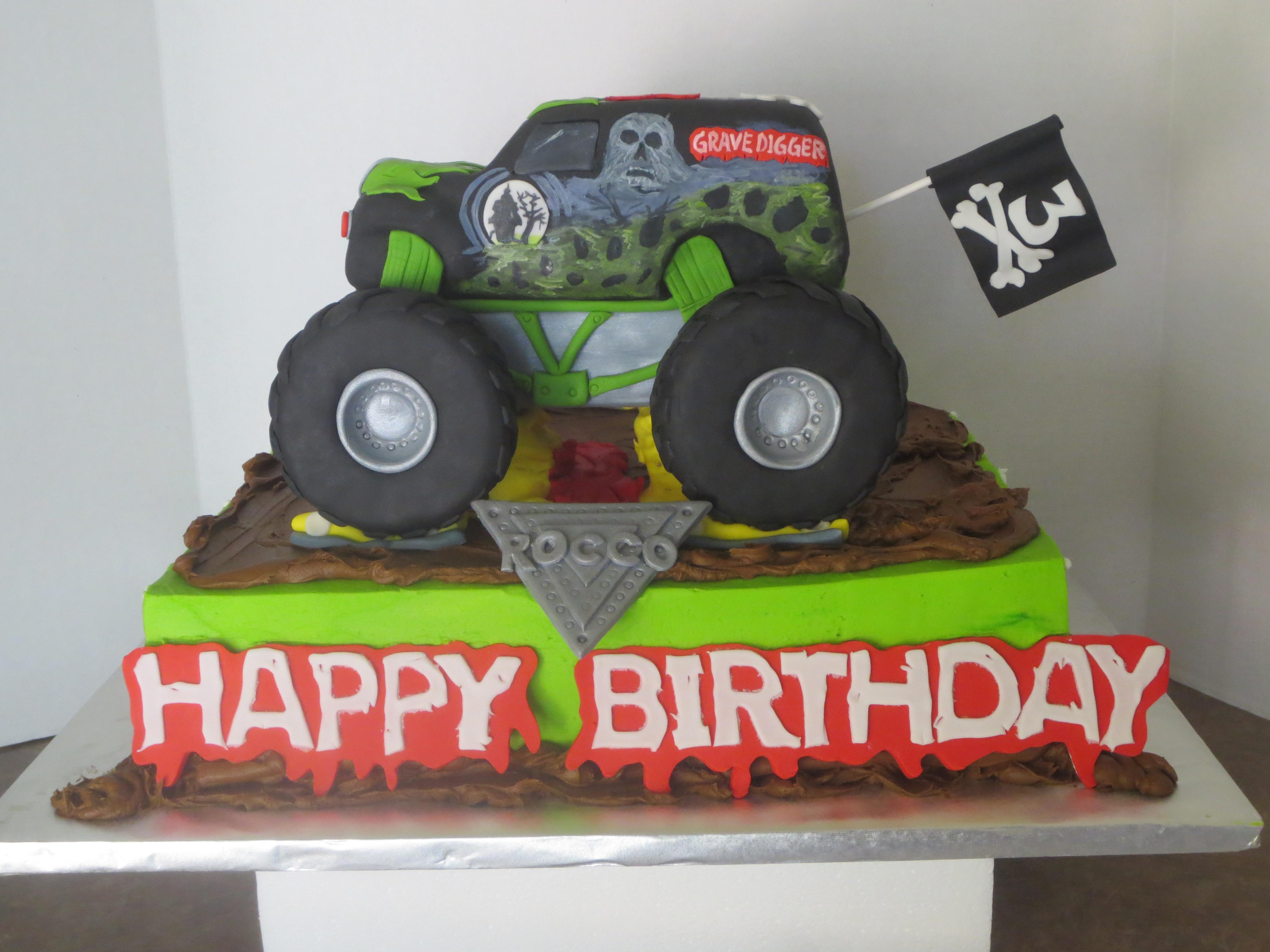 10 number 7 monster truck cakes photo boys monster truck birthday