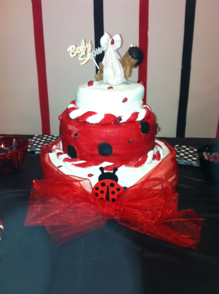 9 Red White And Black Ladybug Baby Shower Cupcakes Photo Baby