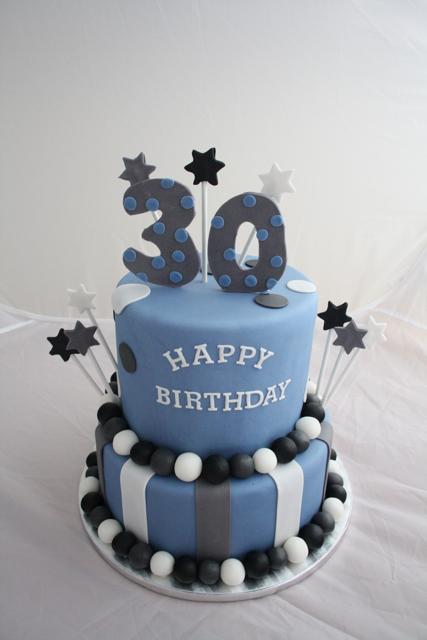 12 Birthday Cakes For Men 30 Yrs Photo 30th Birthday Cake Idea