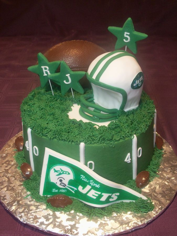 10 NFL Jets Football Cakes Photo NY Jets Football Cake New York
