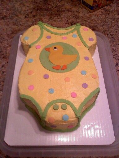 10 Cute Onesie Cakes Photo Onesie Baby Shower Cake Onesie Baby