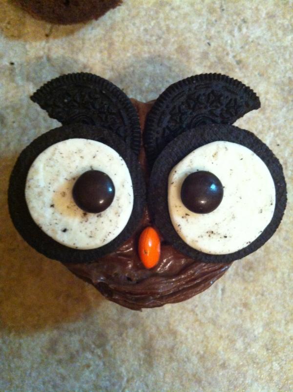 5 Cookiesn Cream Oreo Owl Cupcakes Photo Owl Cookies and Cream