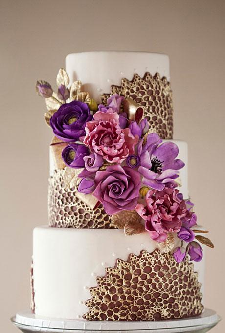 12 Purple Metallic Wedding Cakes Photo - Purple and Silver Wedding ...