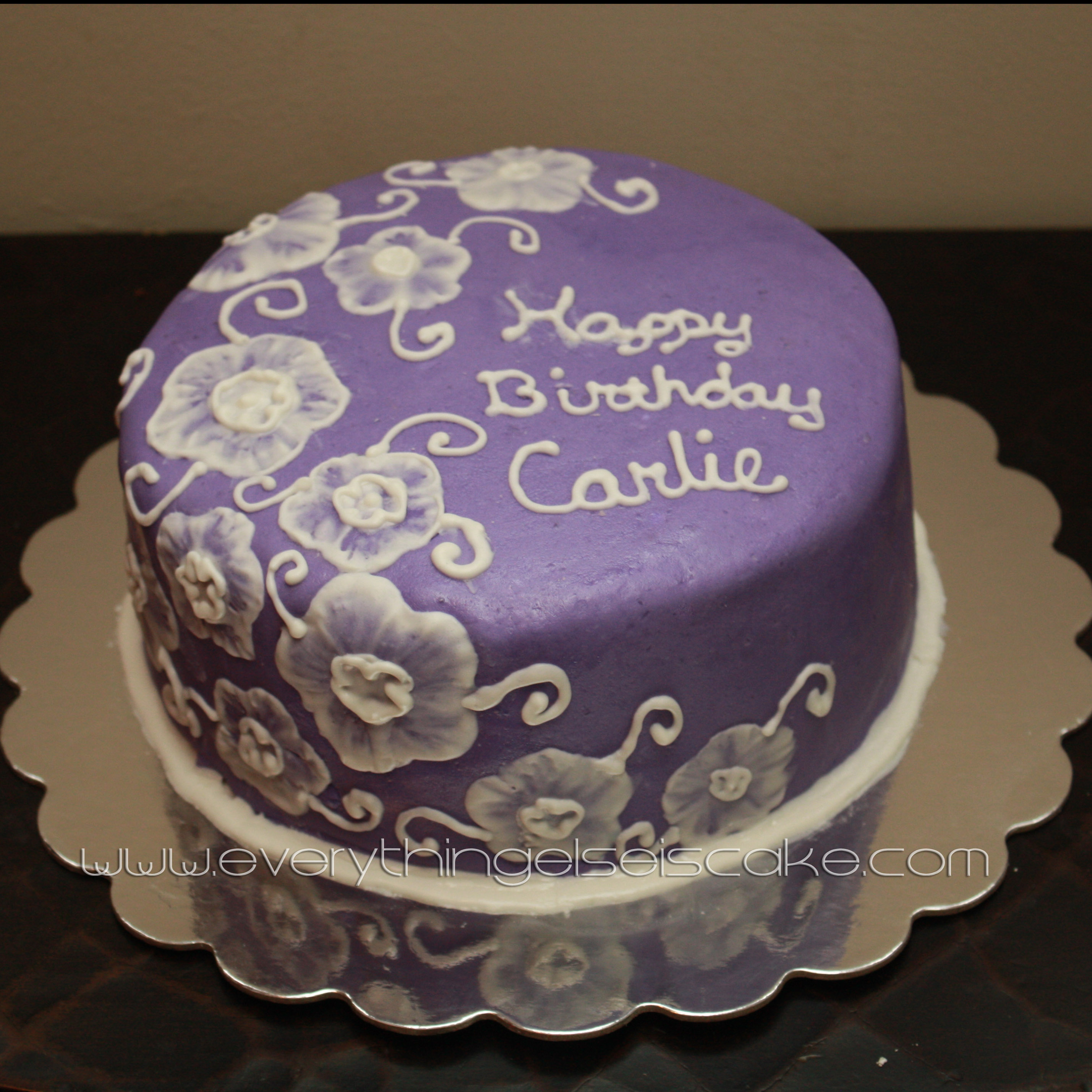 13 Happy Birthday Cakes Purple Flower Photo Purple Blue Ombre