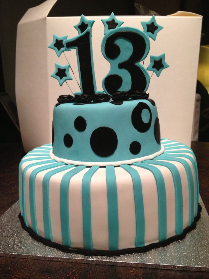 Teal 13th Birthday Cake Ideas