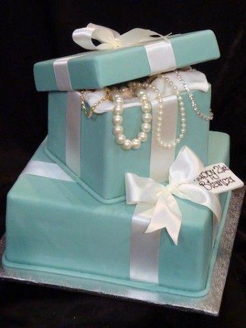 Terrific 12 Tiffany Birthday Cakes For Women Photo Tiffany Box Birthday Funny Birthday Cards Online Benoljebrpdamsfinfo