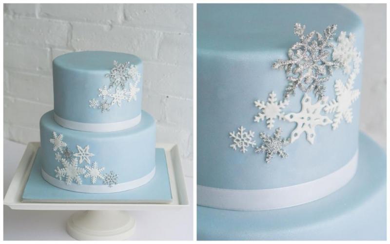 9 Winter Birthday Cakes Photo Winter Wonderland 1st Birthday Cake