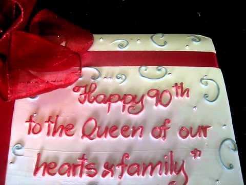 9 Happy 90th Birthday Mother Cakes Photo Happy 90 Birthday Cake