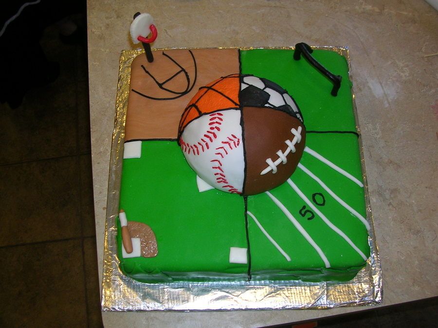 9 Boys Sports Birthday Sheet Cakes Photo Sports Theme Birthday